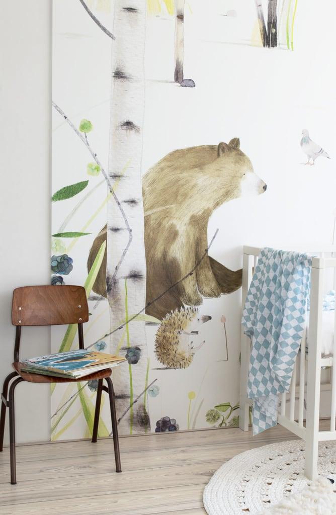 Babykamer behang beren - Tanja van Hoogdalem