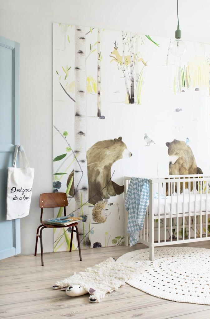 Babykamer styling blauw met beren - Tanja van Hoogdalem