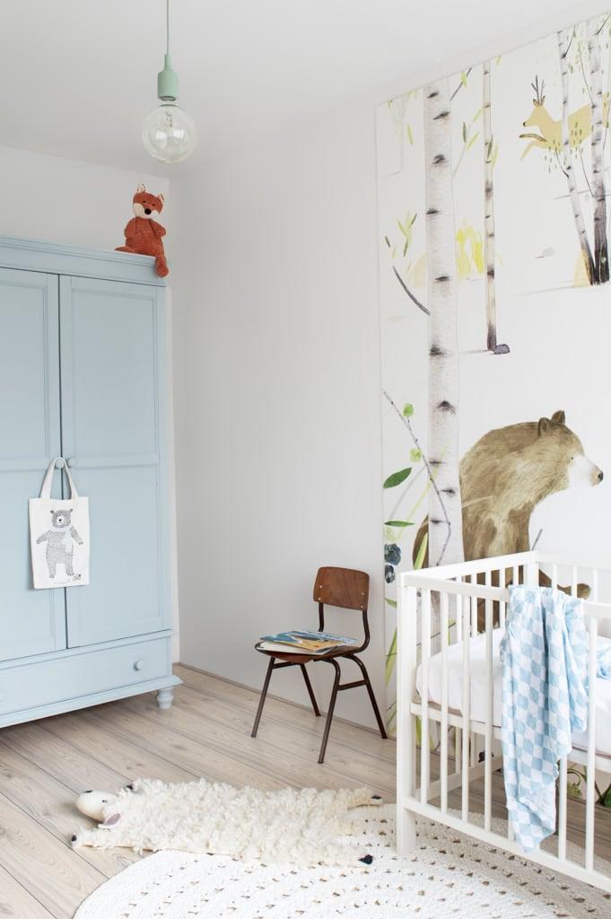 Babykamer blauw met beren - Tanja van Hoogdalem
