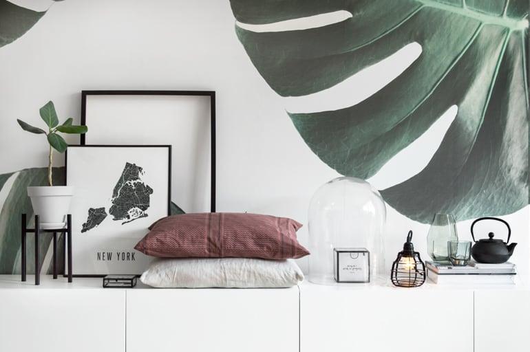 Botanisch behang styling - door Tanja van Hoogdalem