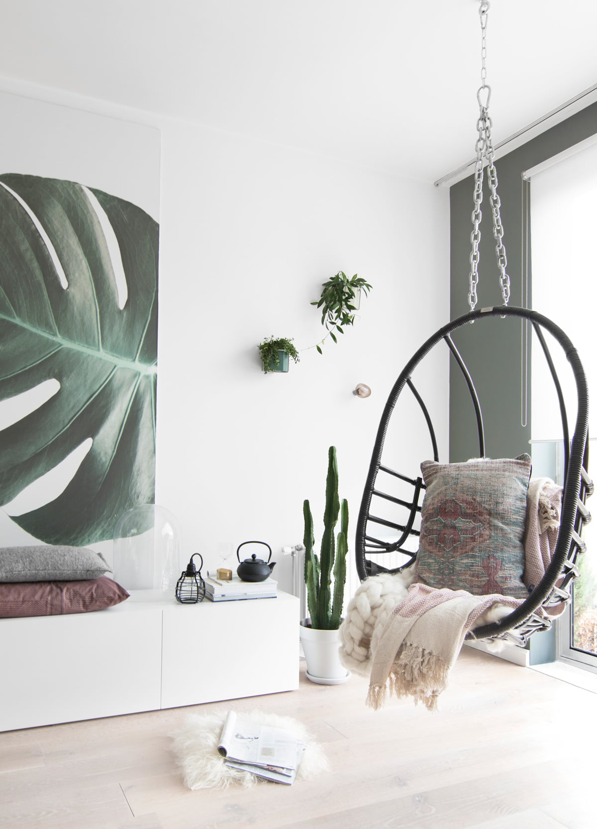 Botanisch behang monstera - Tanja van Hoogdalem