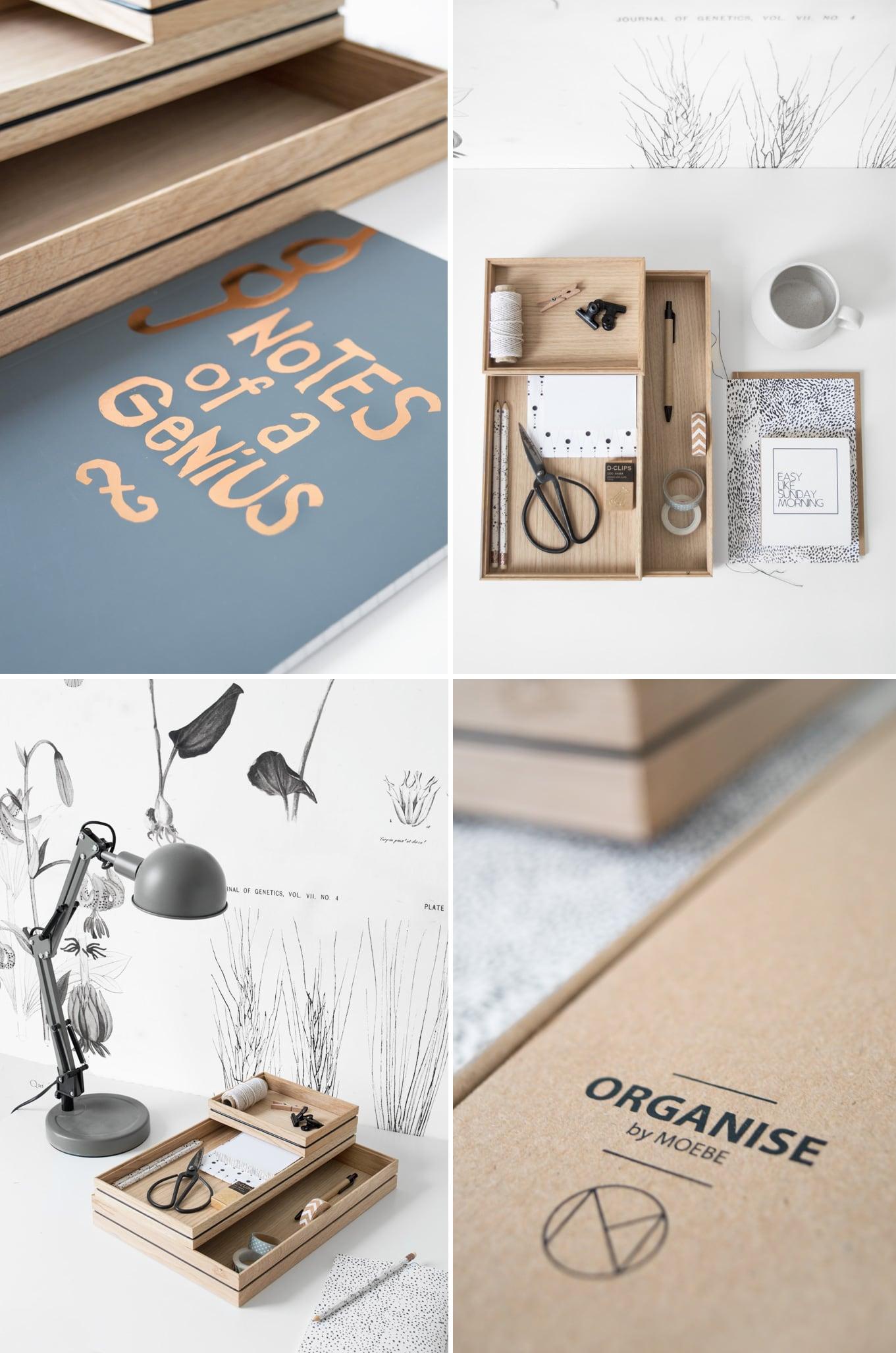 Moebe collage office set - door Tanja van Hoogdalem