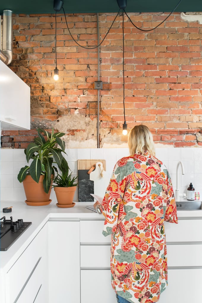 Keuken brick wall