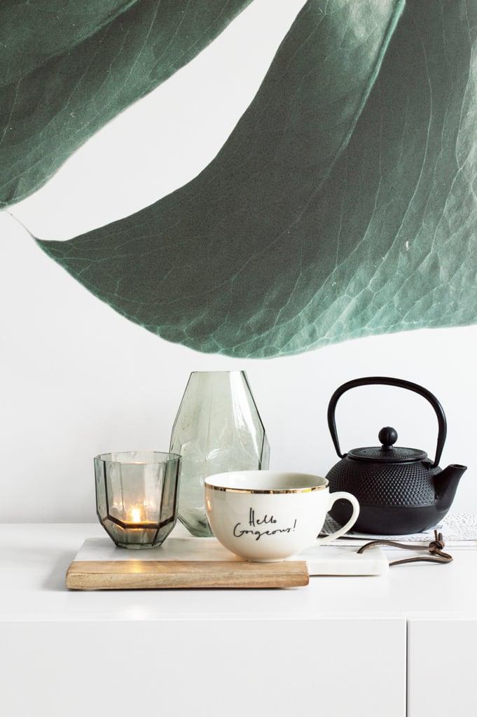 Behang botanisch styling - door Tanja van Hoogdalem