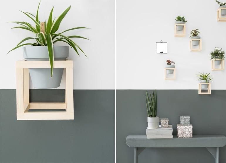 DIY plantenhouder - green wall - door Tanja van Hoogdalem