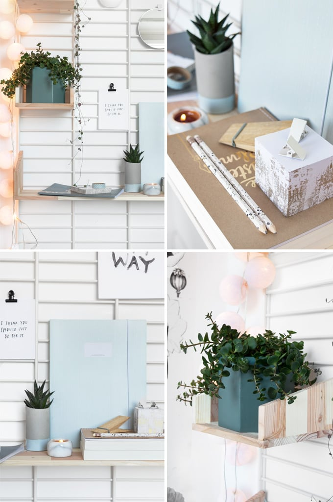 Styling wandrek workspace - door Tanja van Hoogdalem