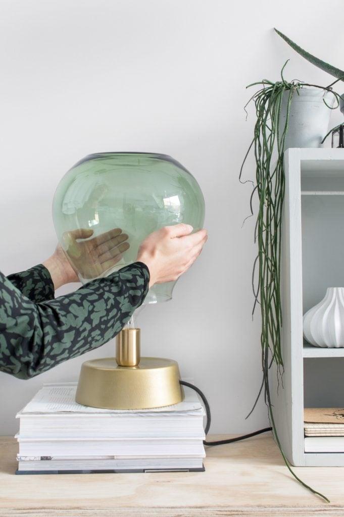 DIY glazen lamp - Tanja van Hoogdalem