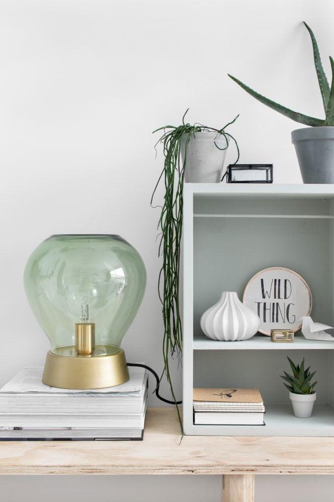 DIY tafellamp van glas - Tanja van Hoogdalem