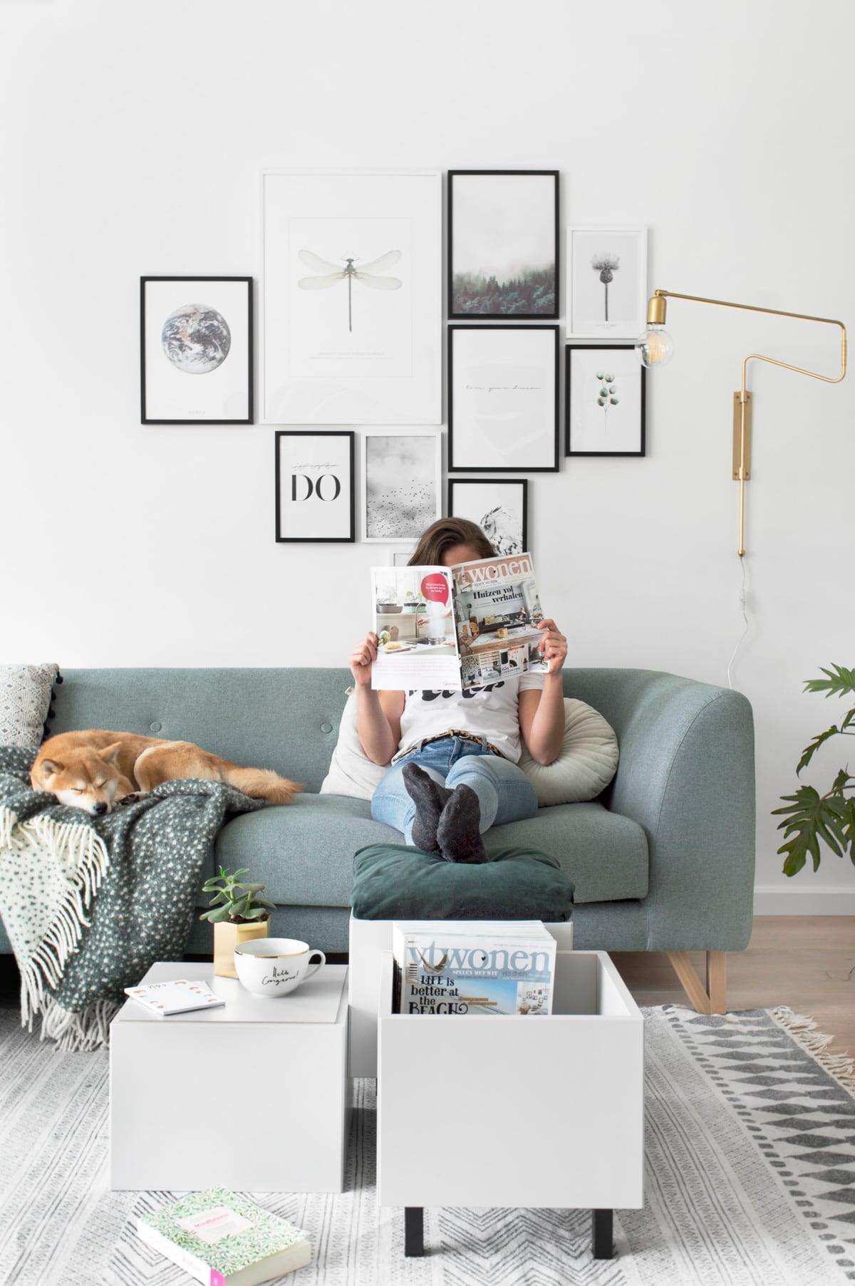 Multifunctionele salontafel IKEA hack - Tanja van Hoogdalem