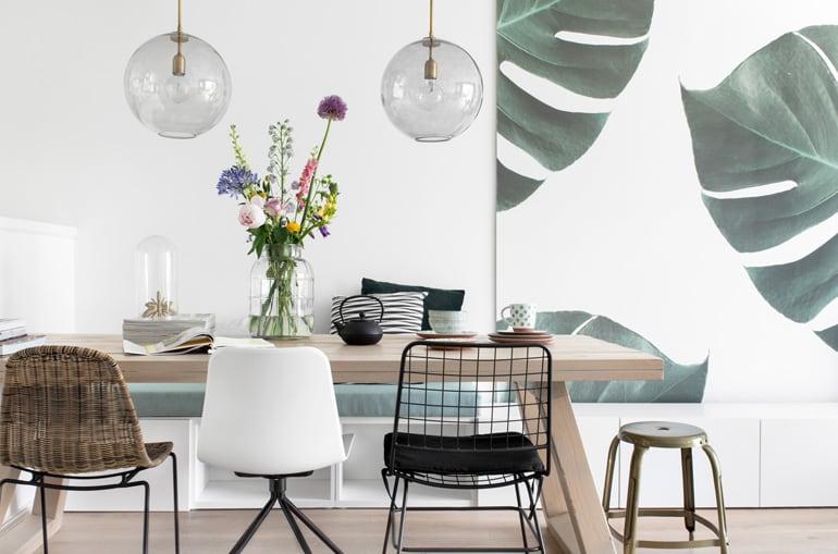 Eethoek make-over met verlichting en stoelen