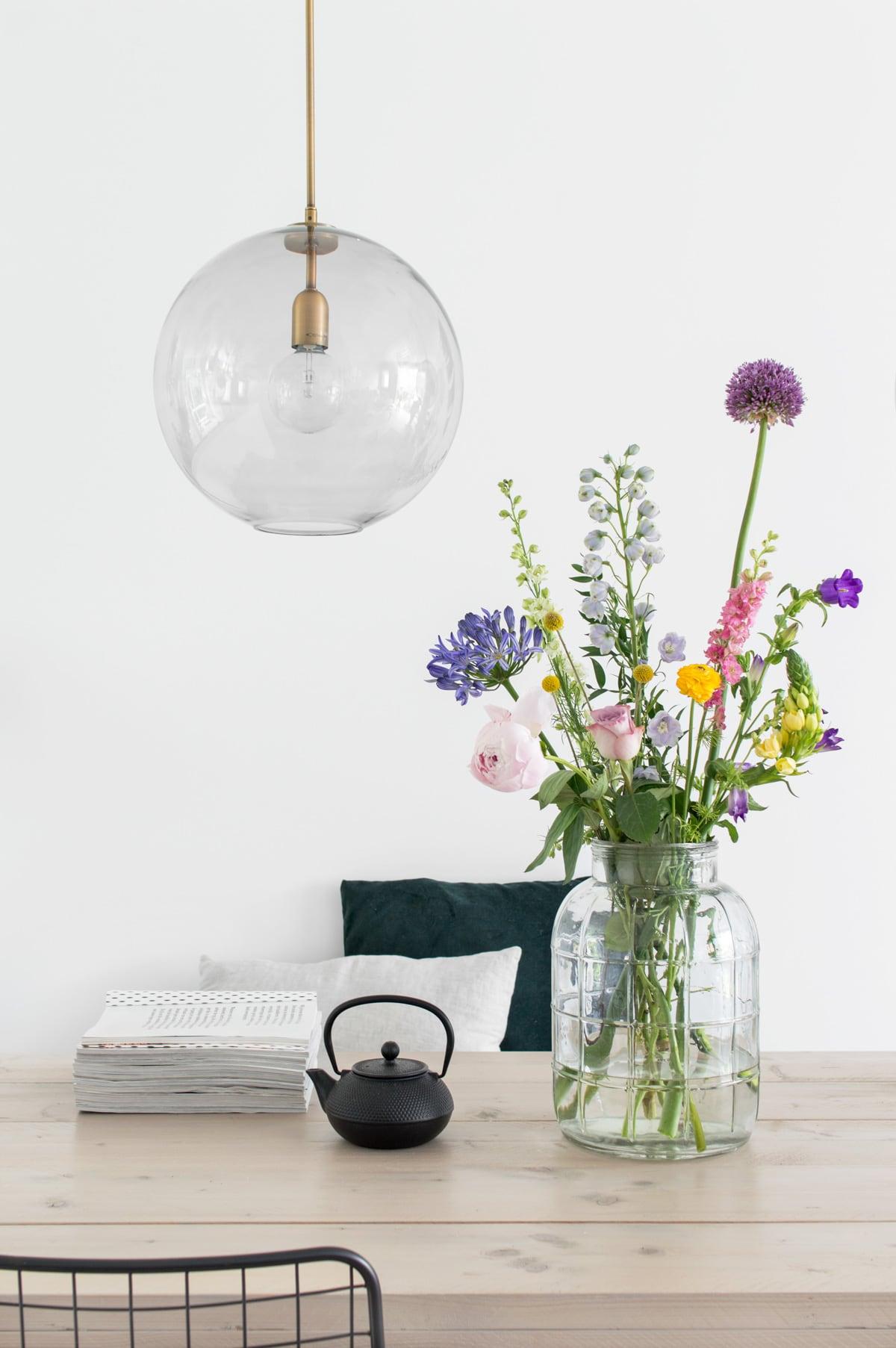 Glazen bol Hanglamp Finn - Tanja van Hoogdalem