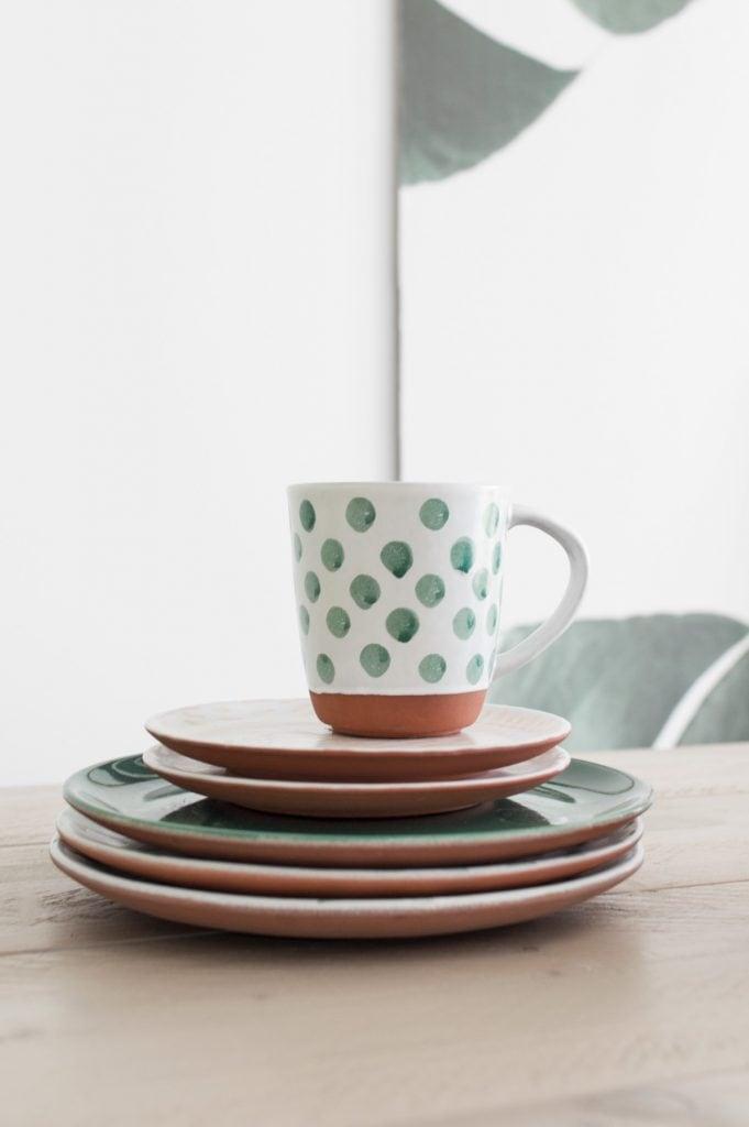 Servies stippen groen KARWEI - Tanja van Hoogdalem