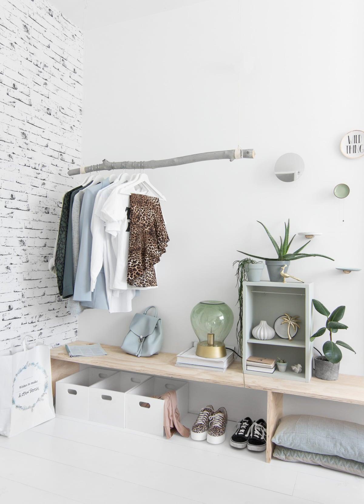 Styling kledingrek DIY - Tanja van Hoogdalem