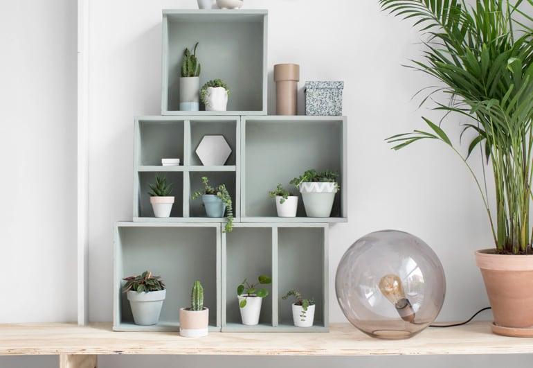 Hergebruik je oude lades tot plantenkastje