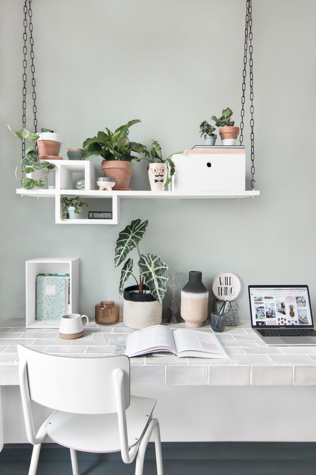 DIY plantenhanger werkplek - Tanja van Hoogdalem