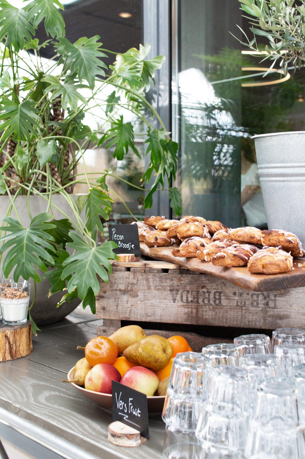 Tafelstyling ontbijt Bosch event - Tanja van Hoogdalem