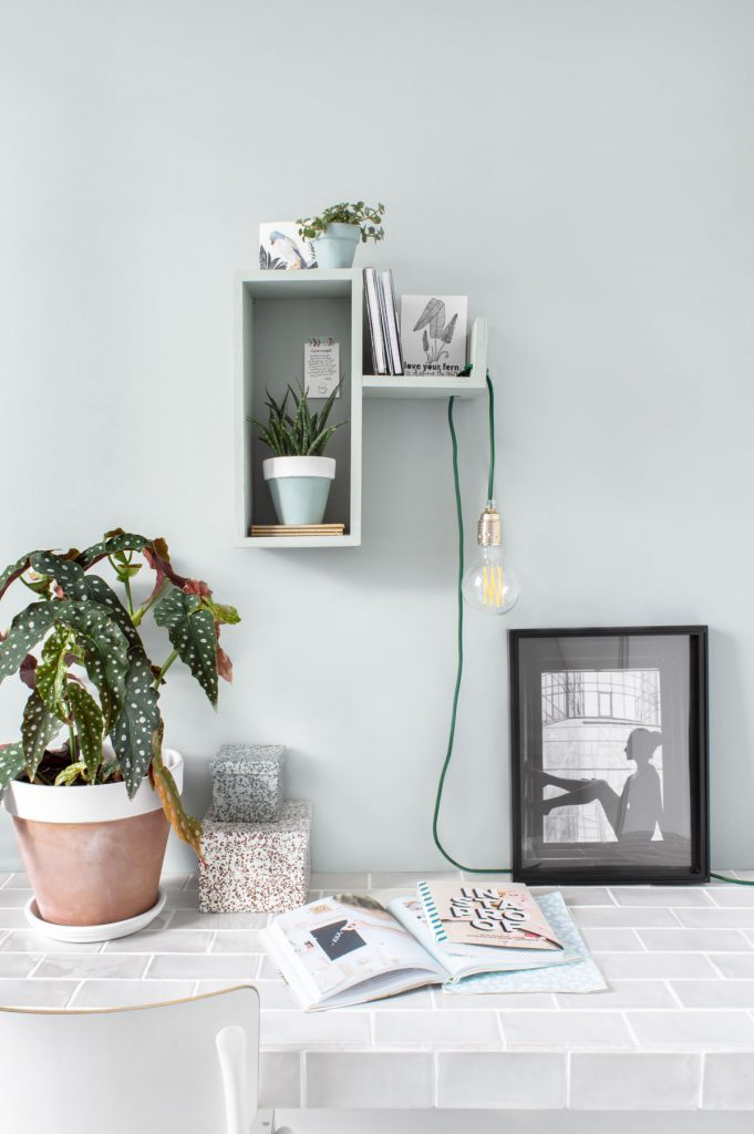 DIY wandkastje met verlichting en plantjes - Tanja van Hoogdalem