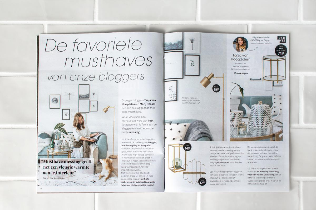 Idee magazine KARWEI messing - Tanja van Hoogdalem