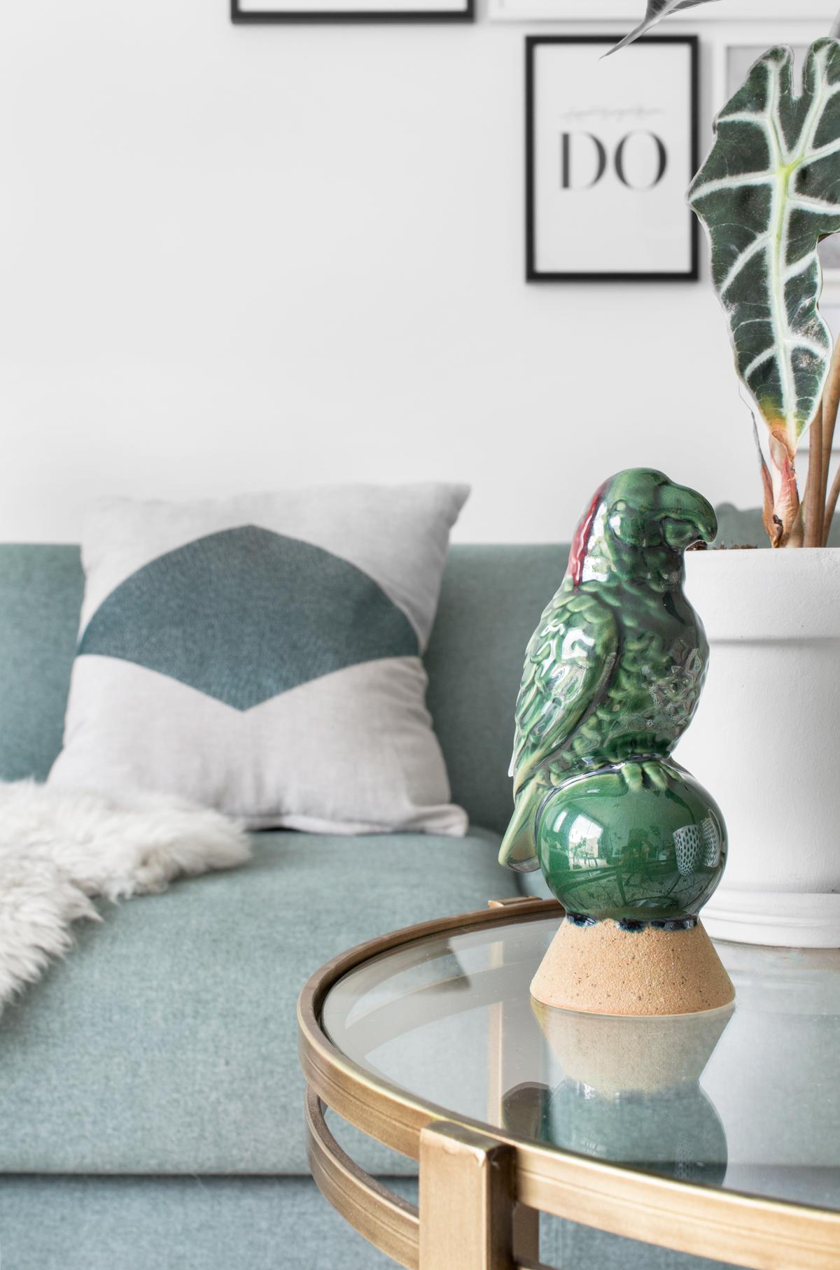Messing interieur vogel zithoek - Tanja van Hoogdalem
