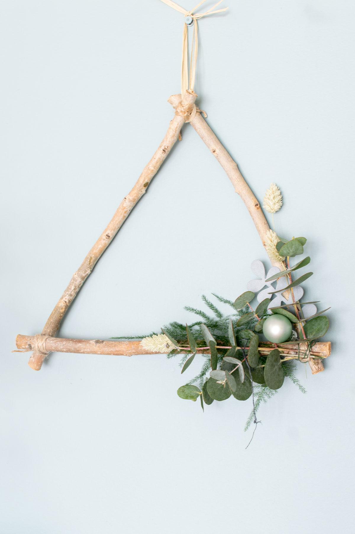 Workshop kerstkrans driehoek - Tanja van Hoogdalem