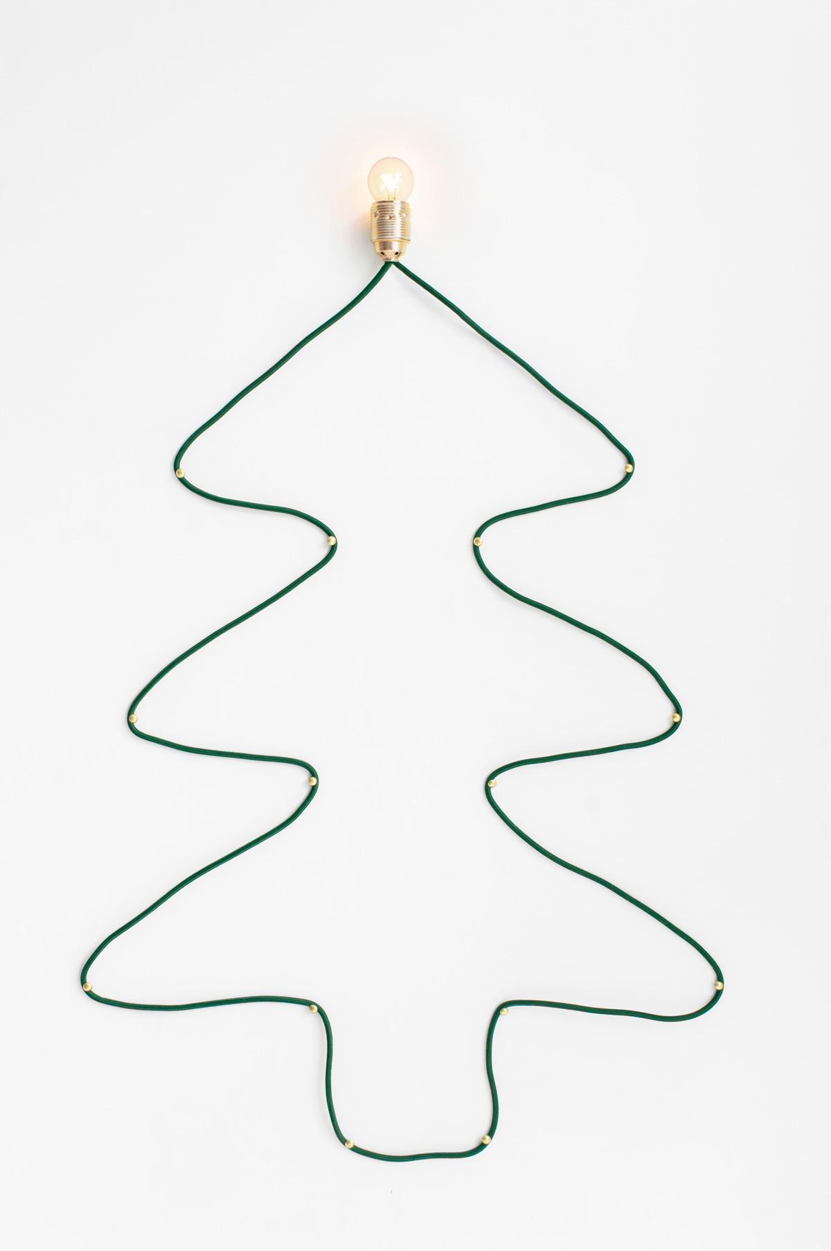 Kerstboom DIY met lamp - Tanja van Hoogdalem