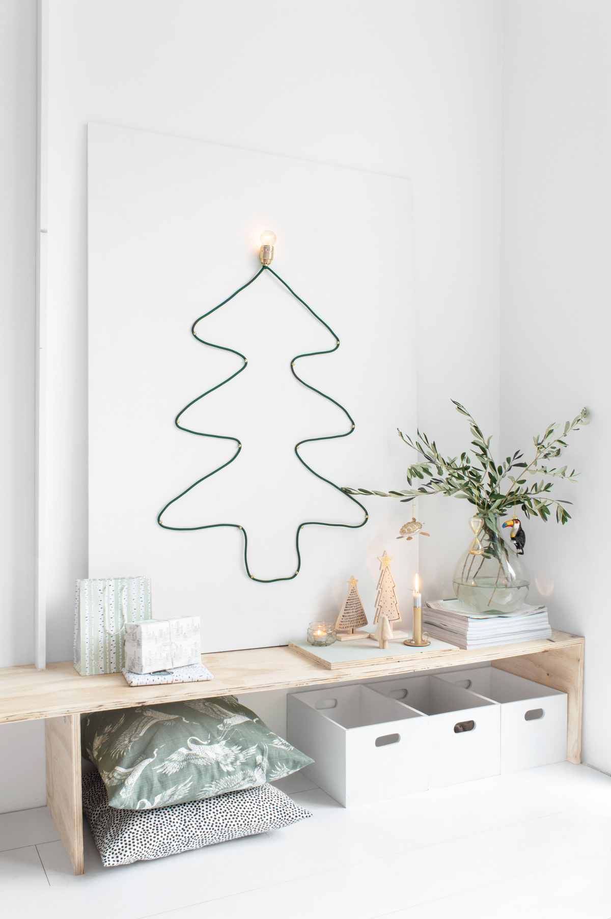 DIY lamp in vorm van kerstboom