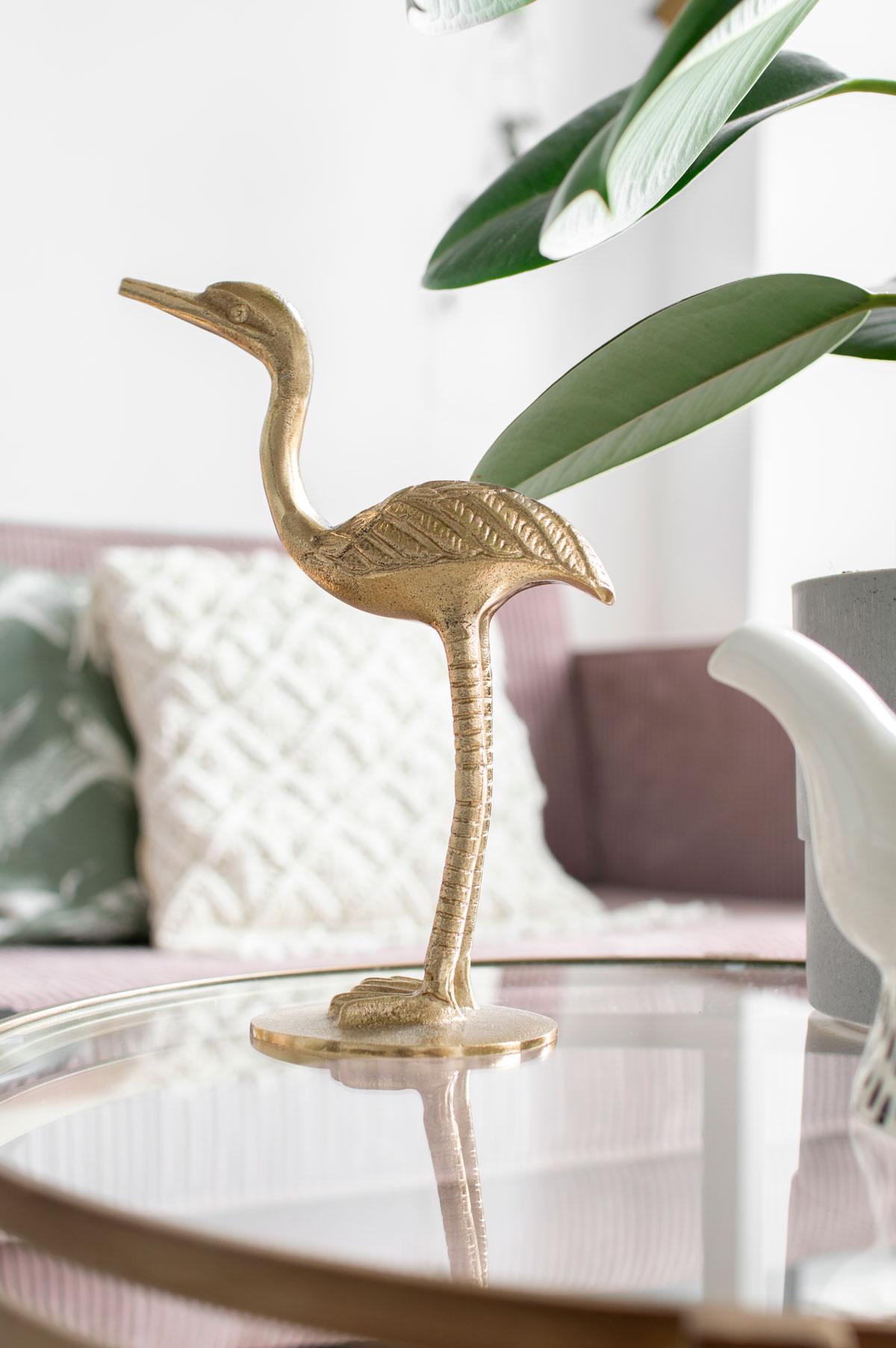 Vogel messing styling - Tanja van Hoogdalem