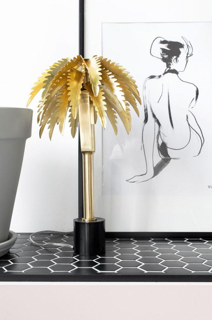 &k amsterdam Palm Tree Lamp - Tanja van Hoogdalem