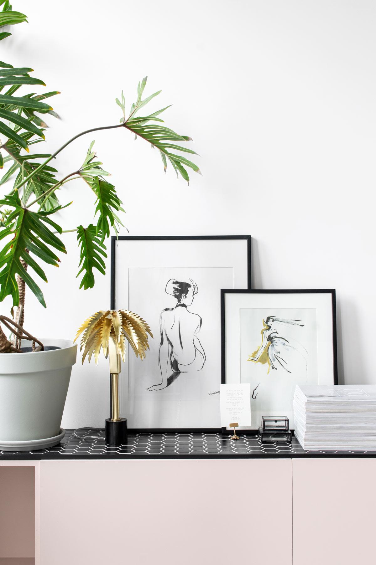 Palmboom lamp fonQ - Tanja van Hoogdalem