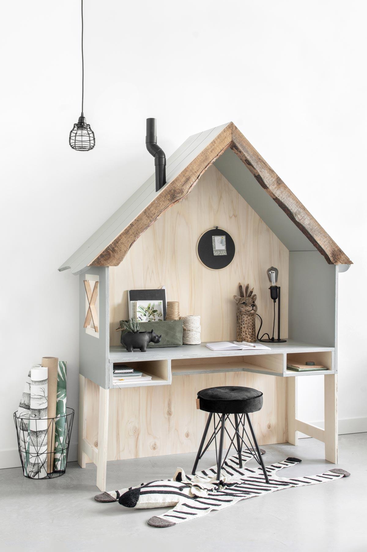 Boomhut bureau junglekamer - Tanja van Hoogdalem