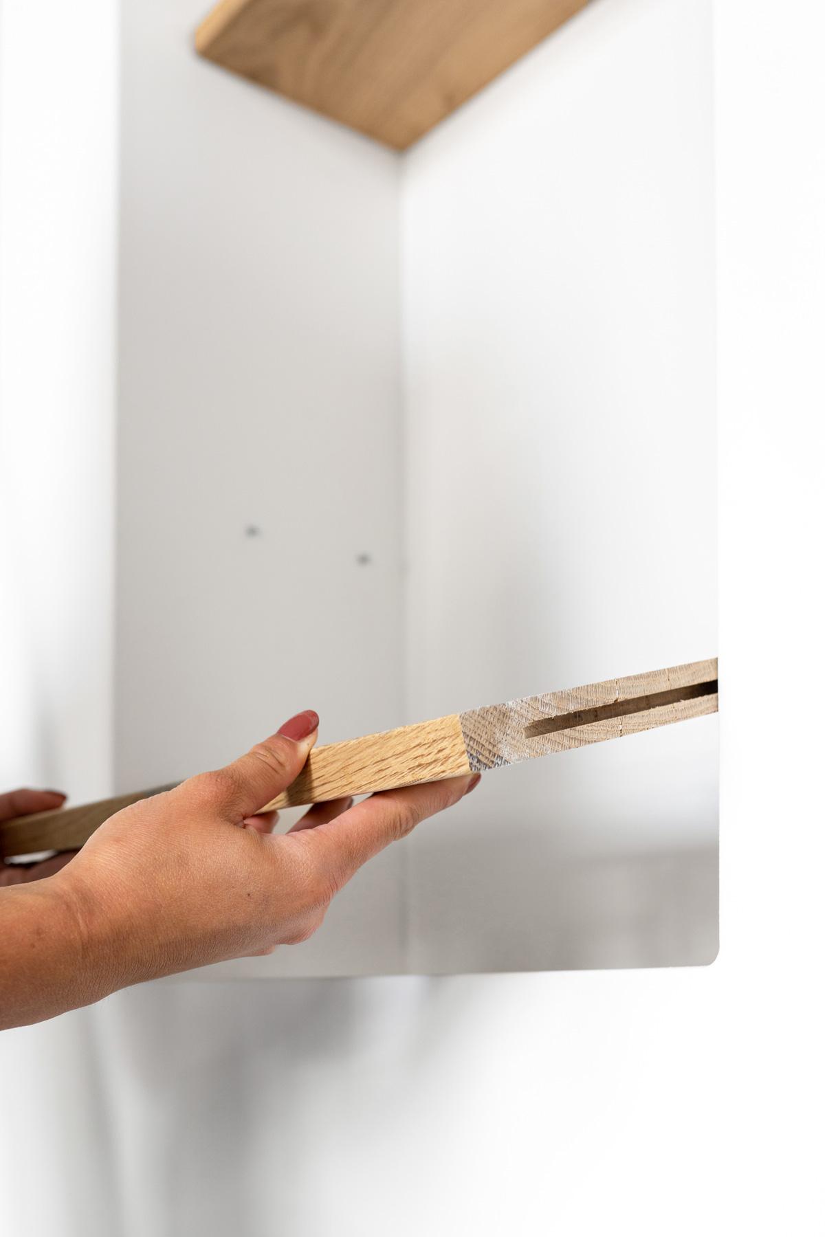 Plankjes blind ophangen - Tanja van Hoogdalem