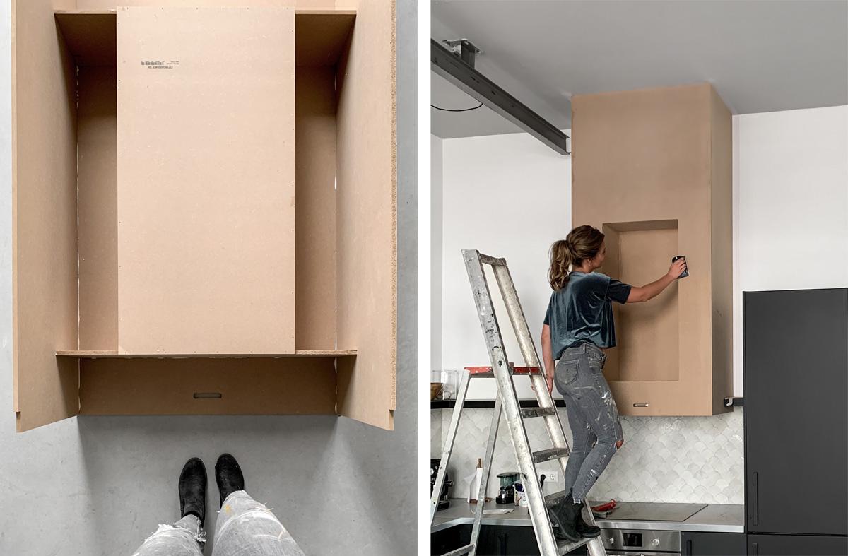 afzuigkap ombouw DIY - Tanja van Hoogdalem