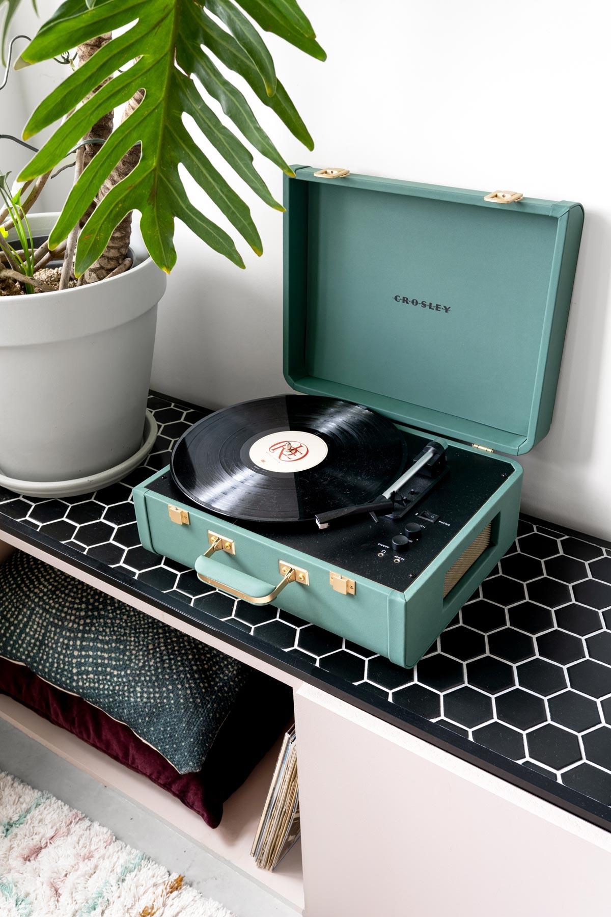 Crosley platenspeler vintage koffer - Tanja van Hoogdalem