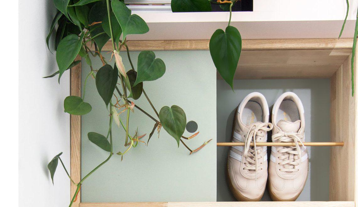 DIY: een multifunctionele schoenenkast in de hal