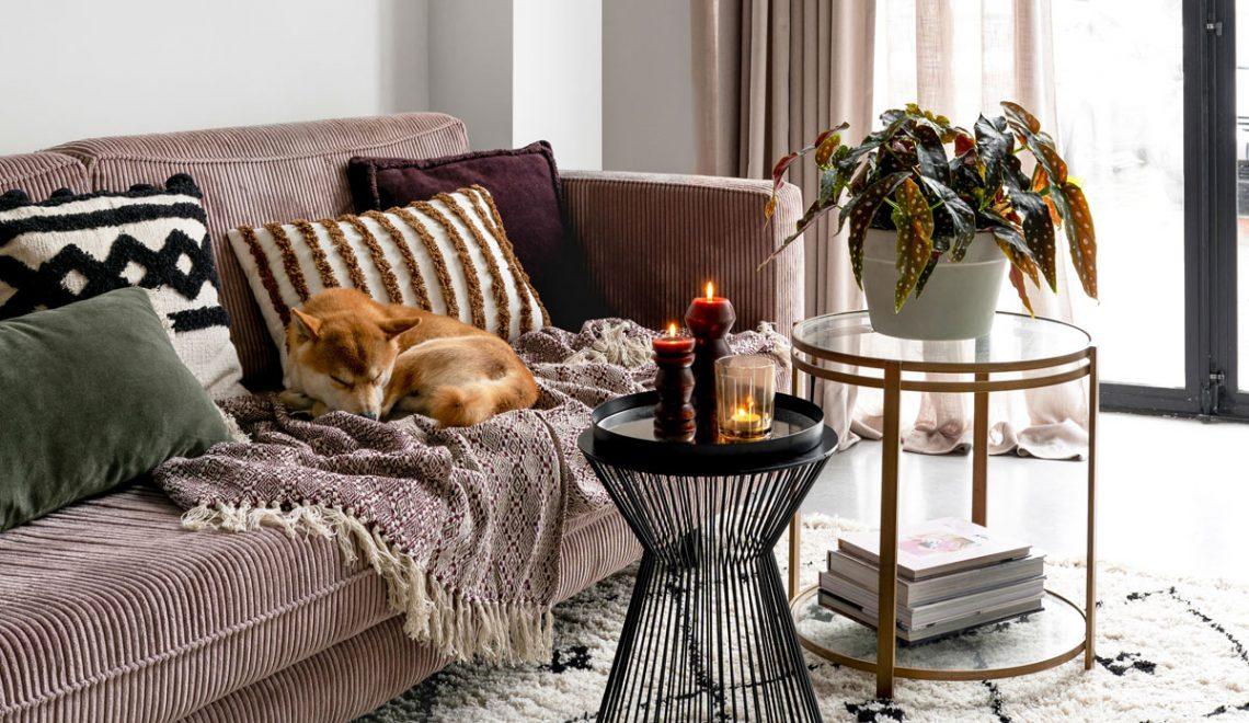 Haal de herfst in huis met warme tinten en zachte materialen