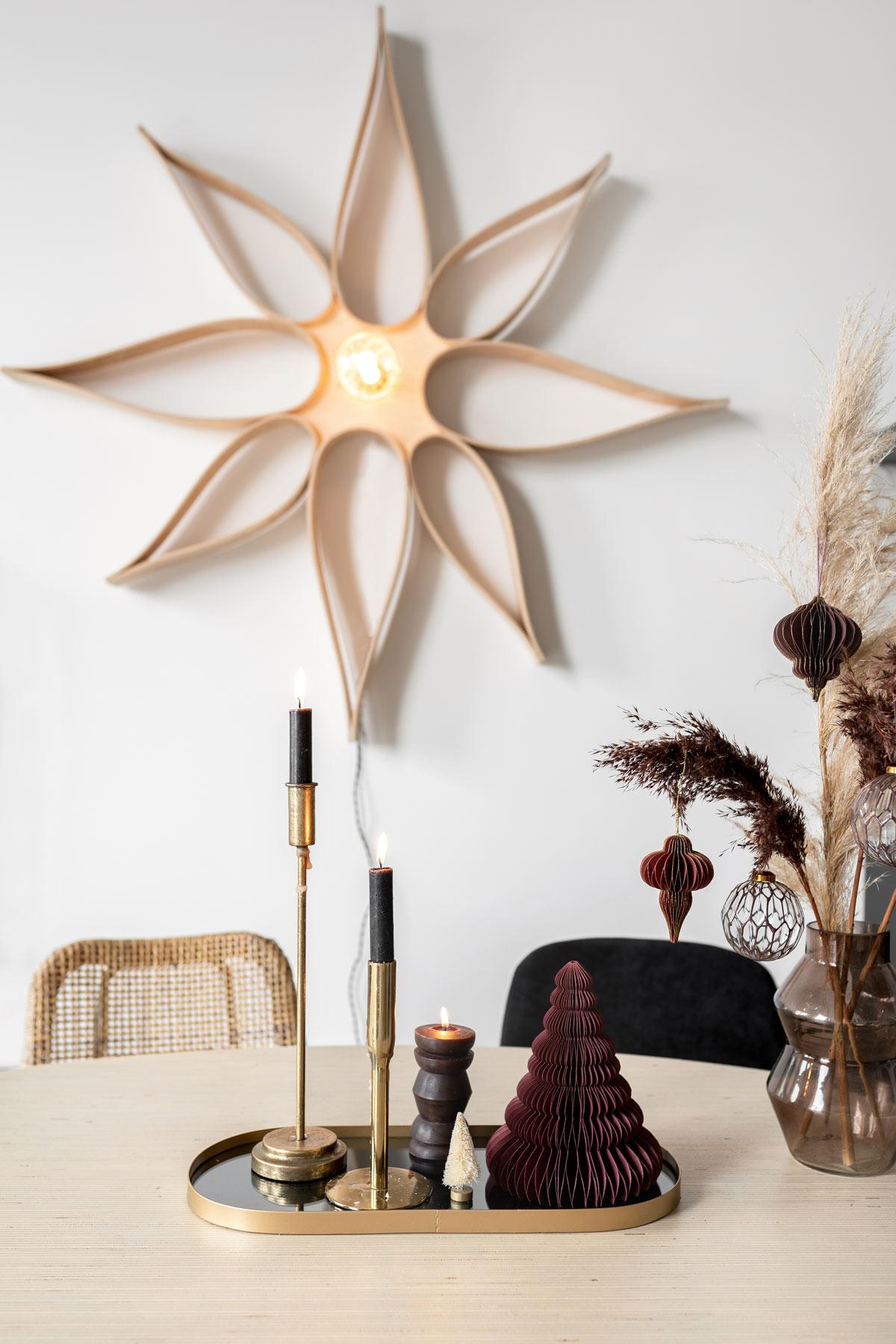 DIY houten ster kerst - Tanja van Hoogdalem