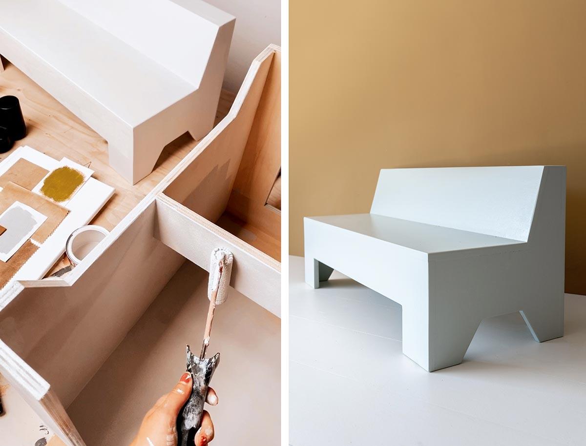 DIY bankje kids - Tanja van Hoogdalem