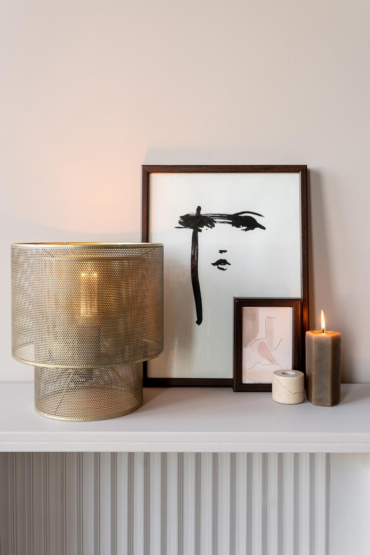Messing tafellamp Ellis karwei - Tanja van Hoogdalem