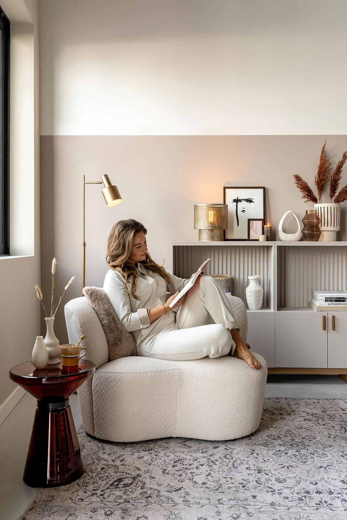 Teddy fauteuil styling - Tanja van Hoogdalem