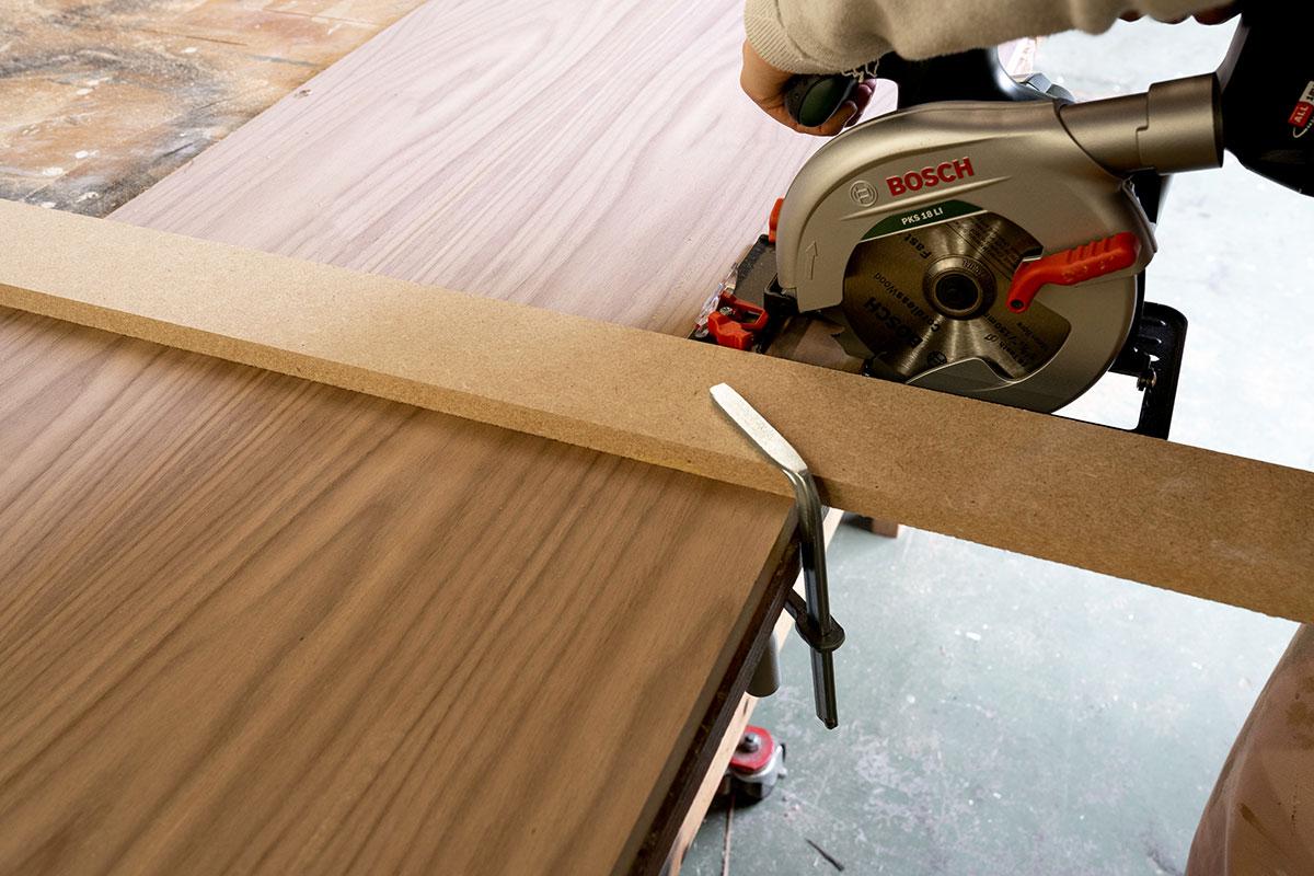DIY stappenplan meubel cirkelzaag Bosch - Tanja van Hoogdalem