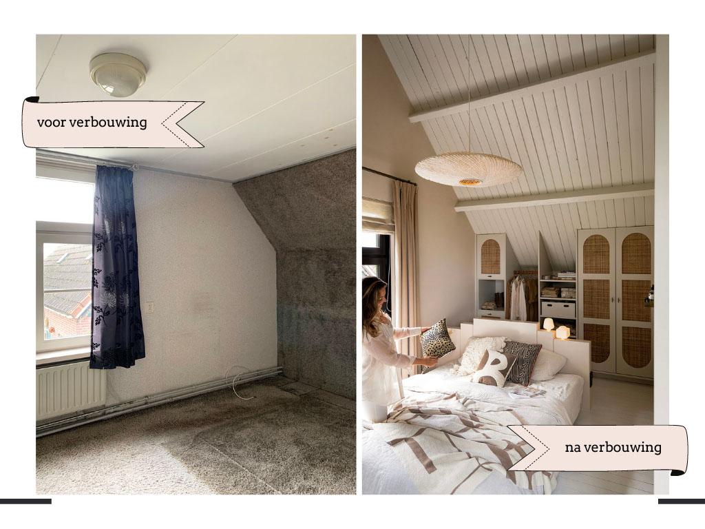 Voor & na slaapkamer - Tanja van Hoogdalem