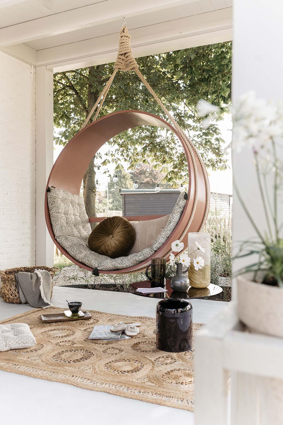 DIY ronde hangstoel - Tanja van Hoogdalem